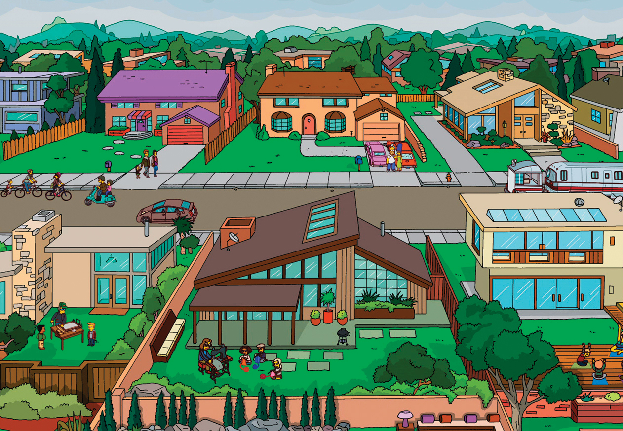 Simpsons springfield map evergreen terrace for The evergreen